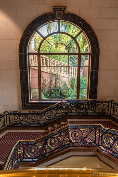 The Fairmont has no shortage of staircases.