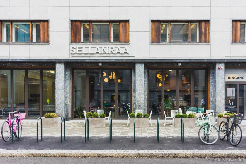 Sellanraa is located on Kongens gate 2 in Trondheim.