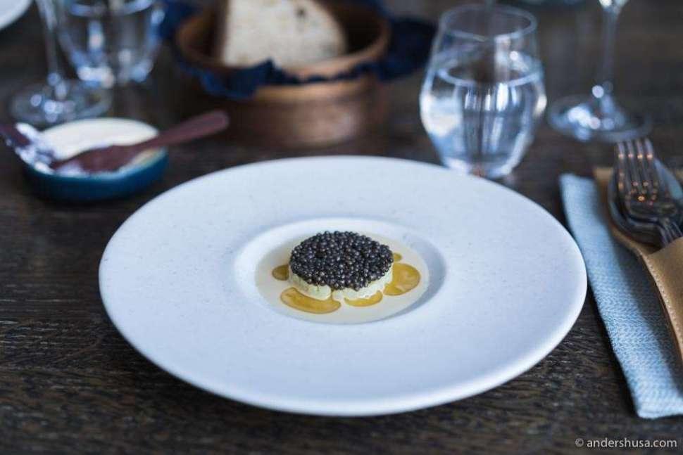 At no. 13 is the potato, hazelnut, and caviar dish from 108 in Copenhagen, Denmark.