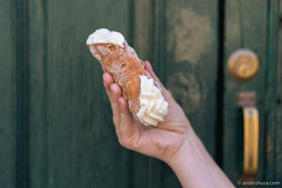 At no. 24 is the cannolo at Caffe Sicilia in Noto, Italy.