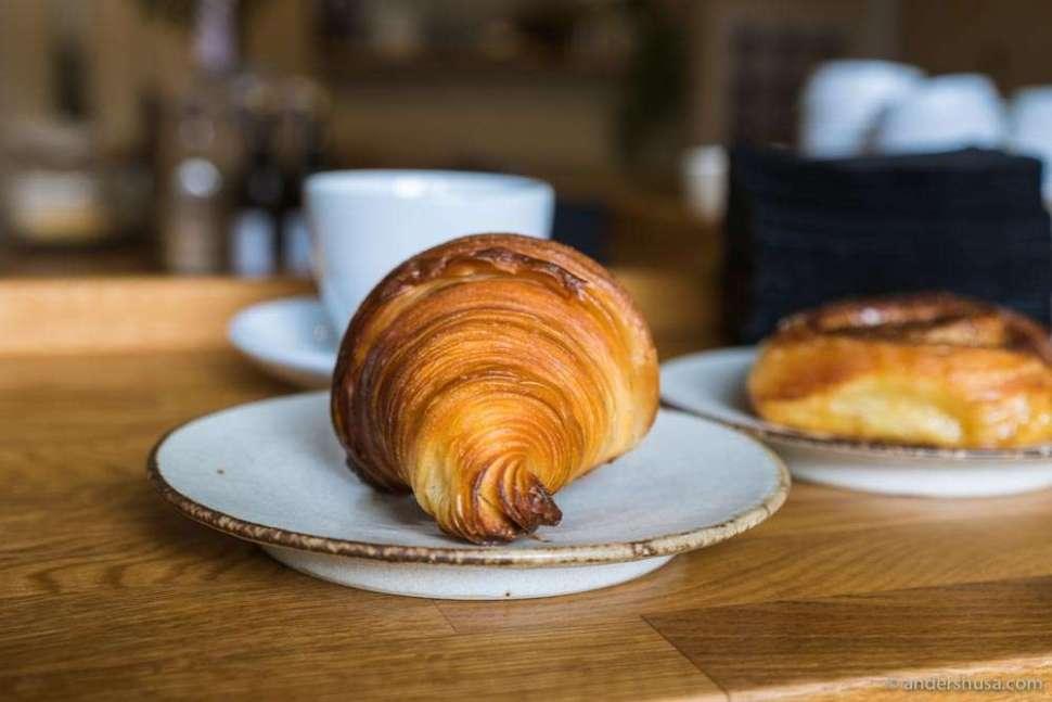 Maybe the best plain butter croissant in Copenhagen.