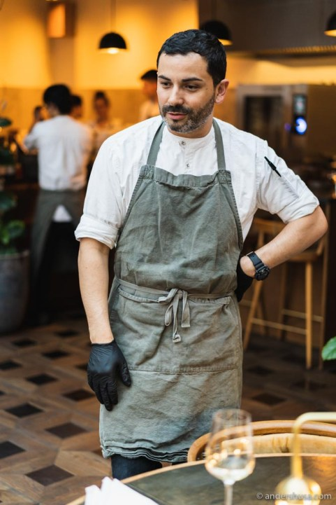 1/2 of the Alouette chef duo –Andrew Valenzuela