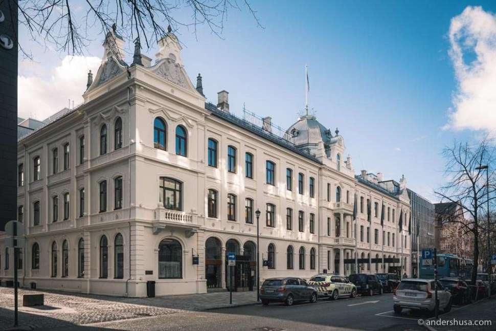 The historic Britannia Hotel in Trondheim dates back to 1870.
