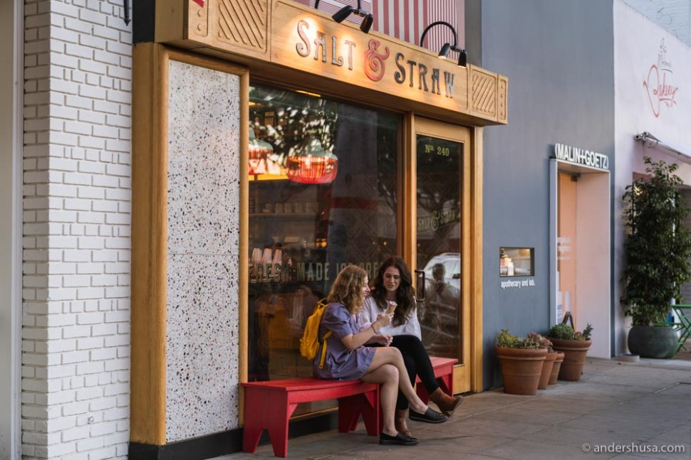 Salt and Straw's first L.A. ice cream shop is on Larchmont Avenue.