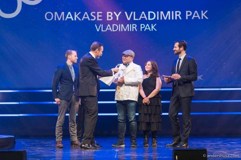 Omakase by Vladimir Pak also got one star, just like the flagship in Stavanger.
