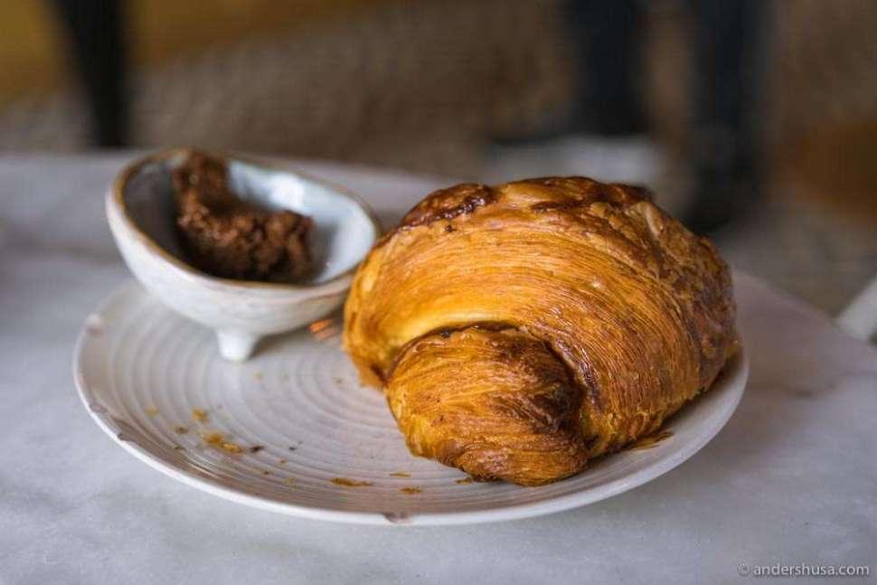 Thousand layers, flaky croissant.
