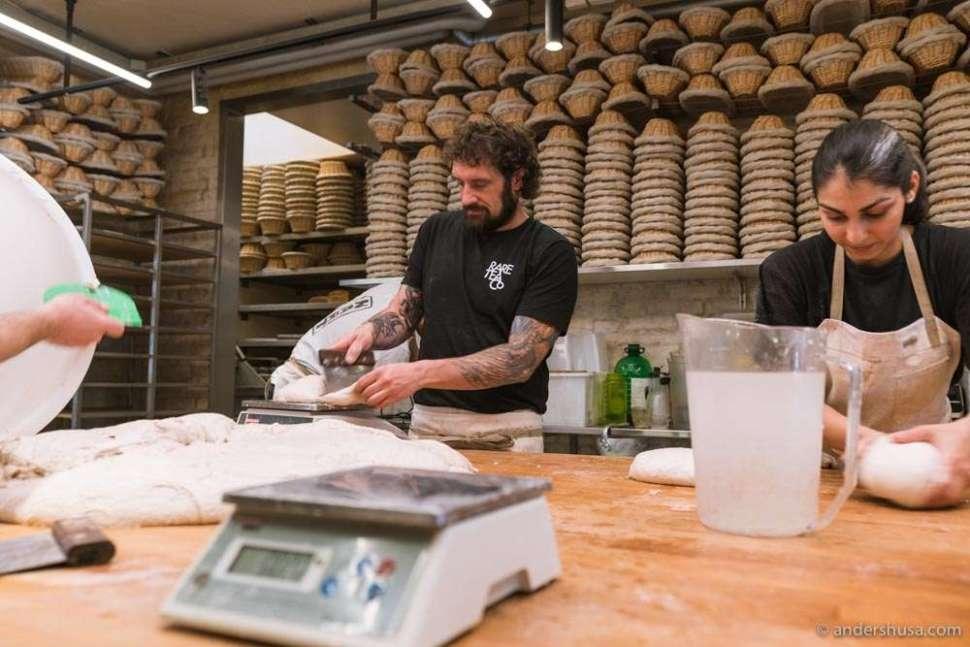 It's always busy in the bakery of Richard Hart.