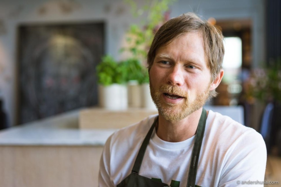 Chef Rasmus Kofoed wants to inspire his guests to eat more vegetables.