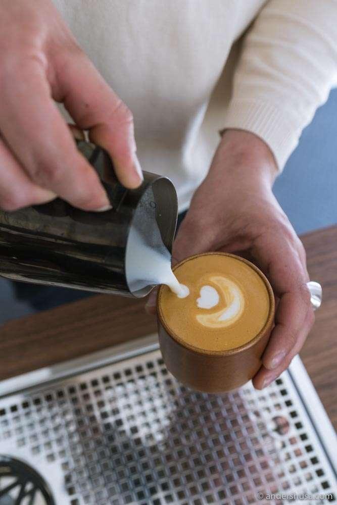 Latte art coming up.