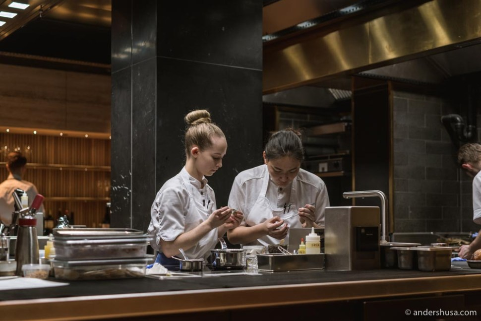 The pastry team at Re-naa.