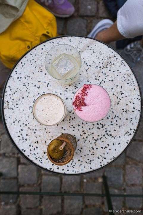 A selection of cocktails at Balderdash.