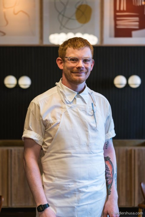 Chef Luke Henderson previously worked at Maaemo.
