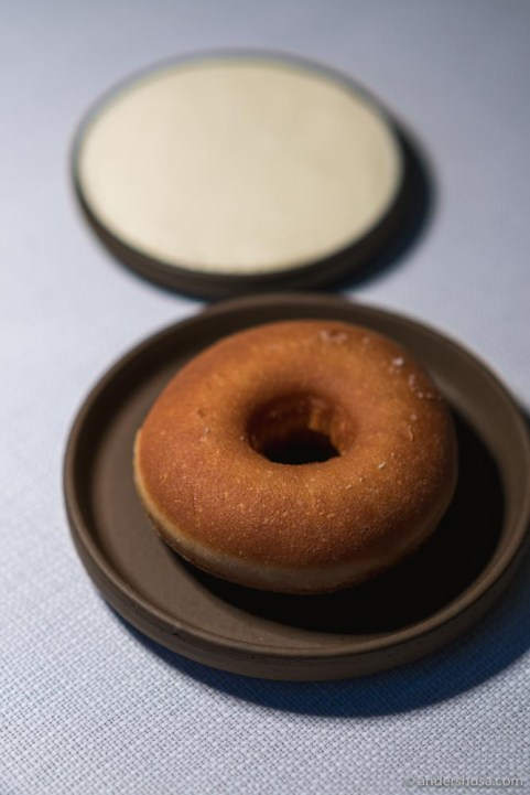 The savory milk donut with salted whipped cream.