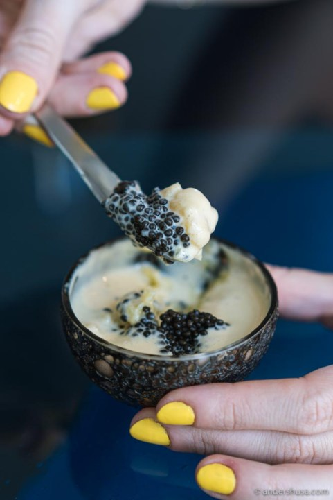 Scoop the potato out and get some caviar with each bite.