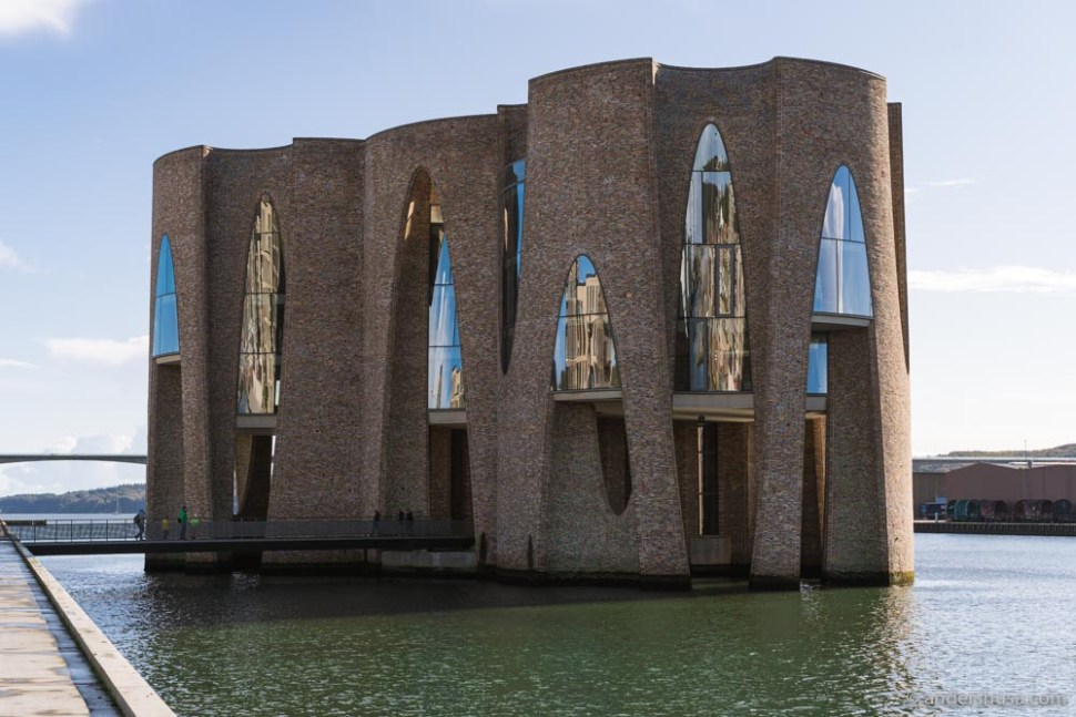 The iconic Fjordenhus in Vejle, Denmark.
