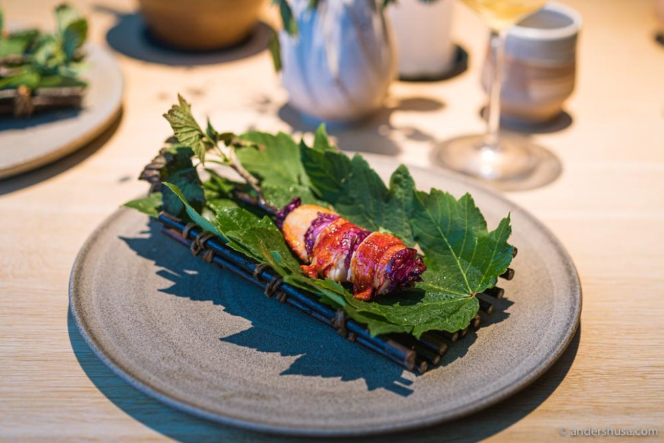 At no. 9 is the barbecued lobster from Noma in Copenhagen, Denmark.