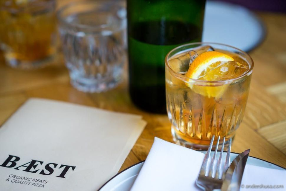 We started with an aperitivo – Bæst's signature spritz.