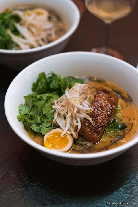 Tonkotsu ramen with pork belly.