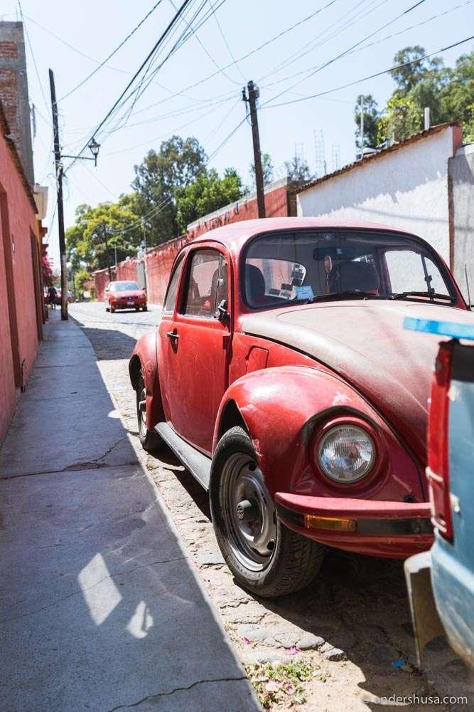 There's a VW Beetle on every street corner in Oaxaca.