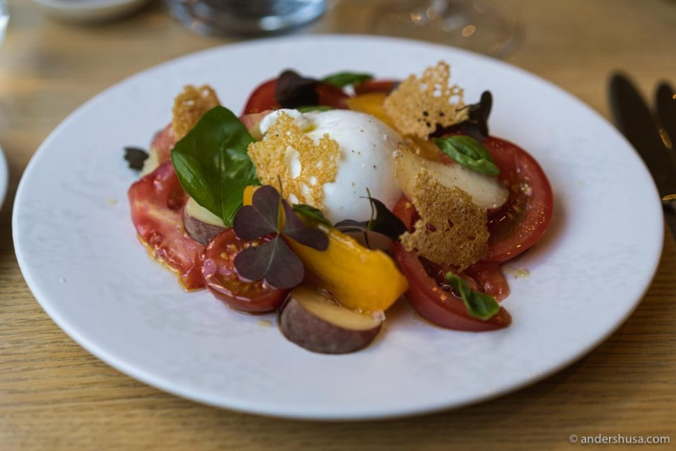 This seasonal burrata dish was one of our favorites.