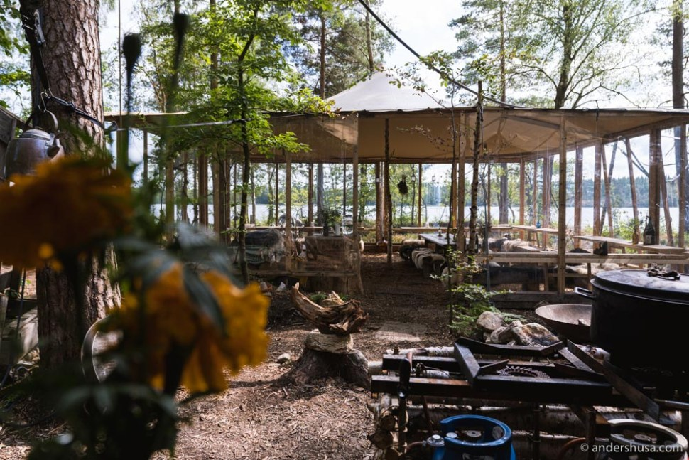 The restaurant – out in the Swedish nature.