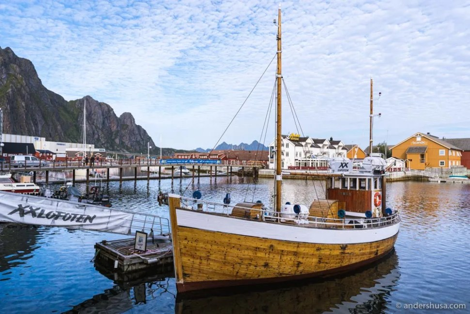 Lots of tourists come to Lofoten for fishing trips.