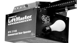 black commercial liftmaster garage door opener
