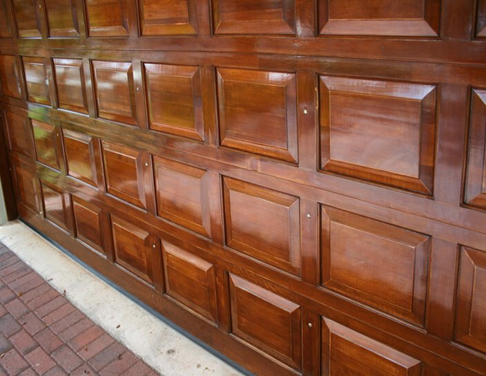 Step #2 CHOOSE A STAIN & Staining Your Metal Garage Door - Anderson Garage Doors