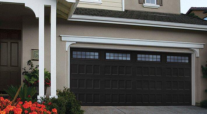 black Designer's Choice residential garage doors