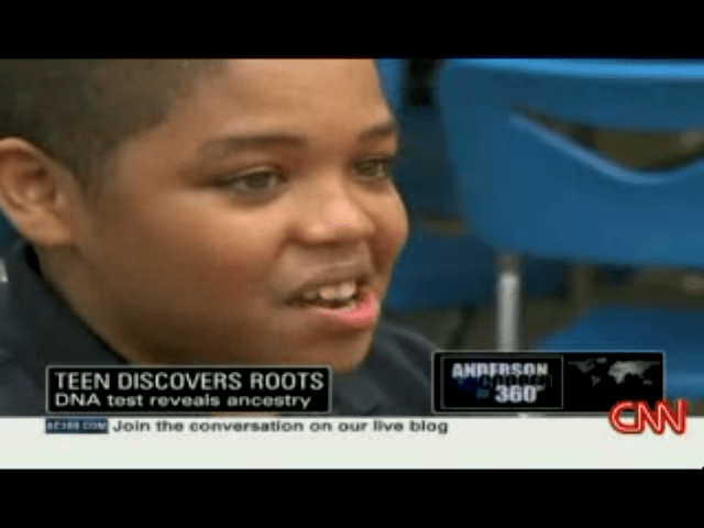 Teen discover his roots