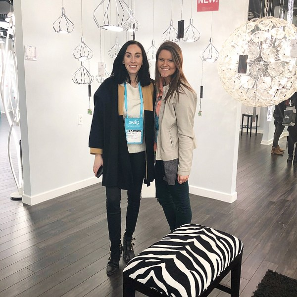 Paige and Sam at the Dallas Lighting Market