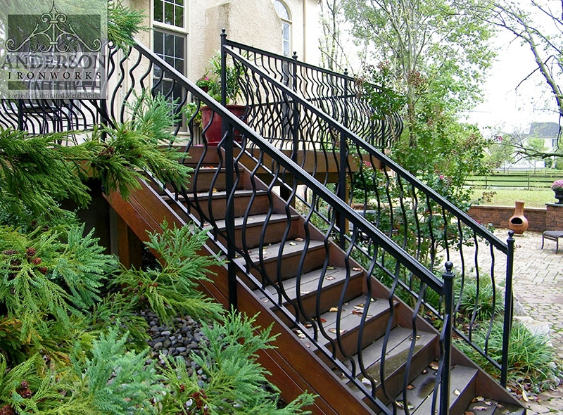 Wrought Iron Railing Custom And Pre Designed Anderson Ironworks | Decorative Wrought Iron Handrail | Forged Iron | Interior | Classic | Ornamental | Steel