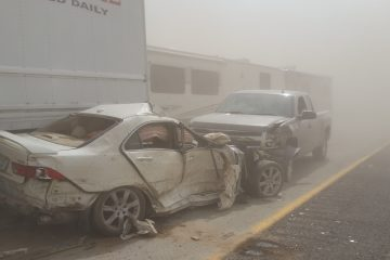 duststorm pileup on 395