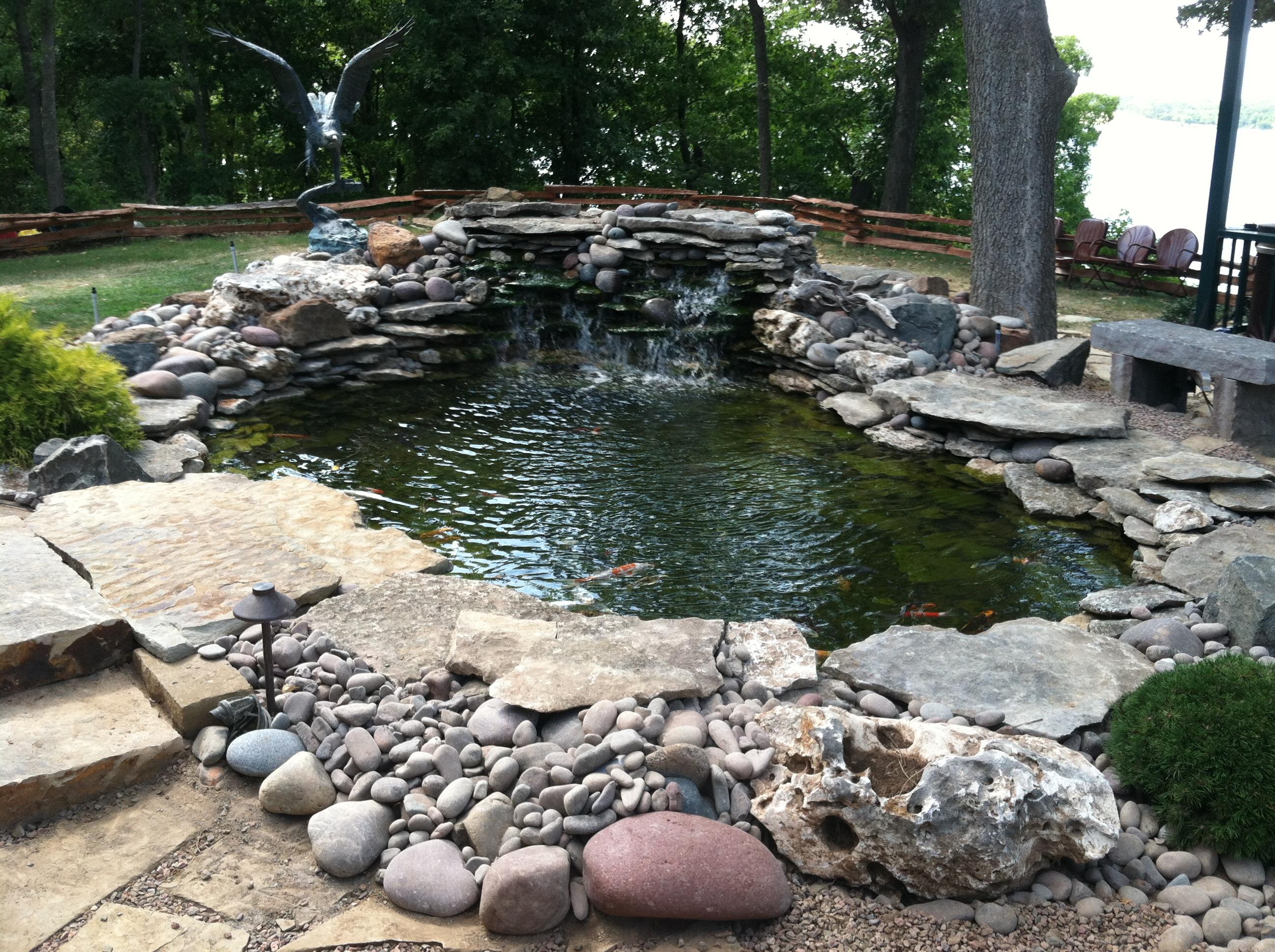 Landscape Design Tulsa   Koi Ponds Tulsa   Anderson Pond ... on Landscape Pond Design id=88589