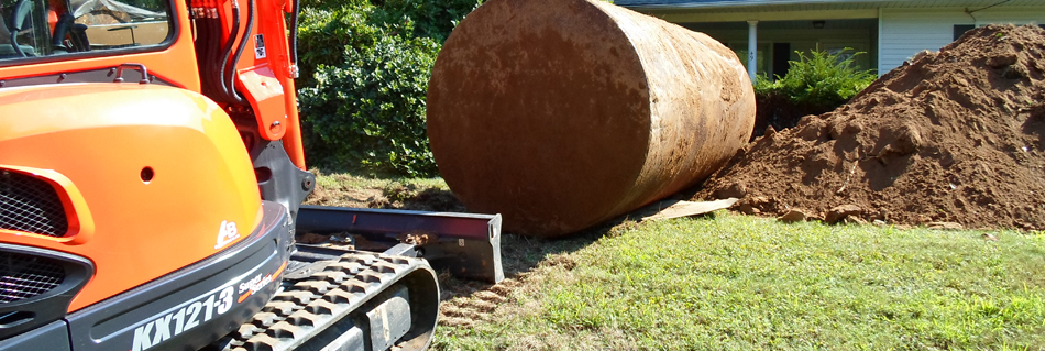 Large Oil Tank removed by Anderson