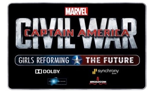 DISNEY AND MARVEL ANNOUNCE THE GRAND PRIZE WINNER OF CAPTAIN AMERICA: CIVIL WAR - GIRLS REFORMING THE FUTURE CHALLENGE 15