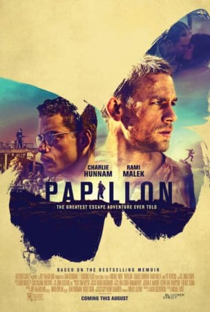 WEEKEND MOVIE ROUNDUP: PAPILLON, THE WIFE, DOWN A DARK HALL and NIGHT IS SHORT, WALK ON GIRL 1