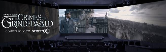 """Warner Bros. """"Fantastic Beasts: The Crimes of Grindelwald"""" to be Released in ScreenX 3"""