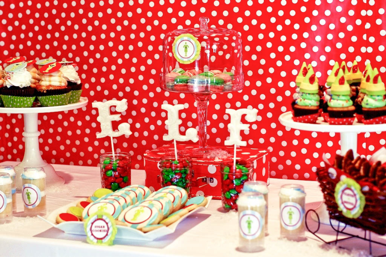 Buddy the Elf Themed Brunch Party by Deliciously Darling Events     See some other festive holiday themes