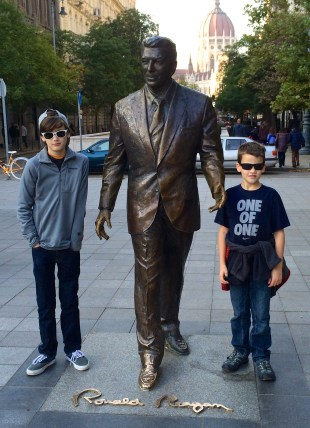 With Ronald Reagan.