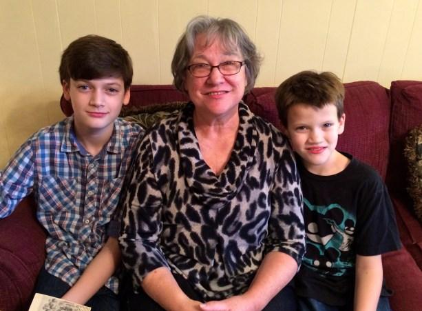 With Grammy Iris.