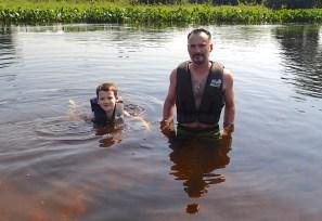 Swimming in the Pantanal.