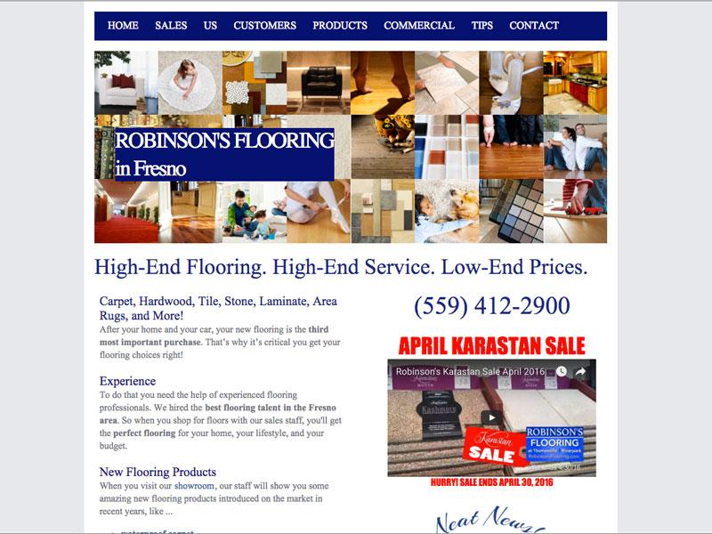 Robinson's Flooring, SEO Fresno CA