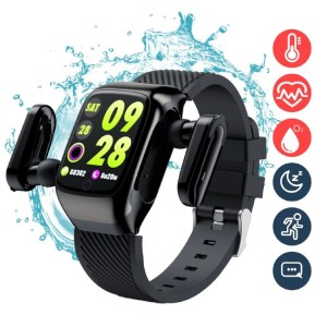 Smart Watch With Earbuds