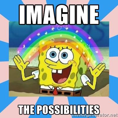 imagine sponge bob