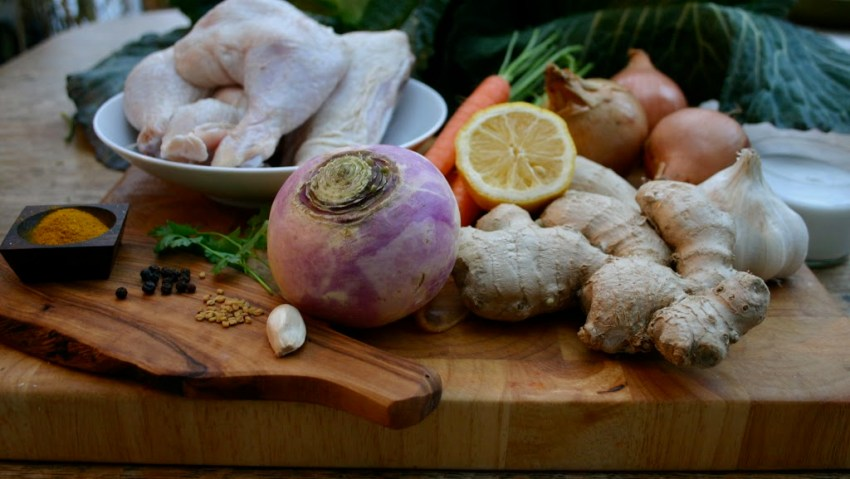 Ingredients for Coconut Chicken Curry