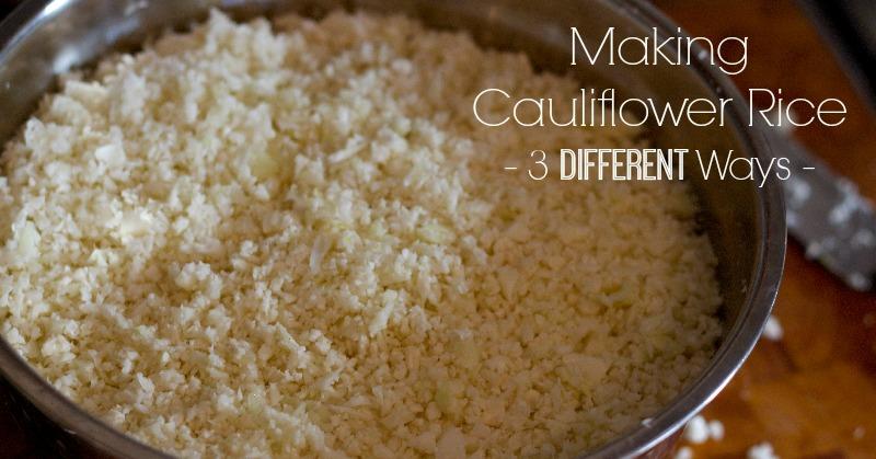 Making Cauliflower Rice