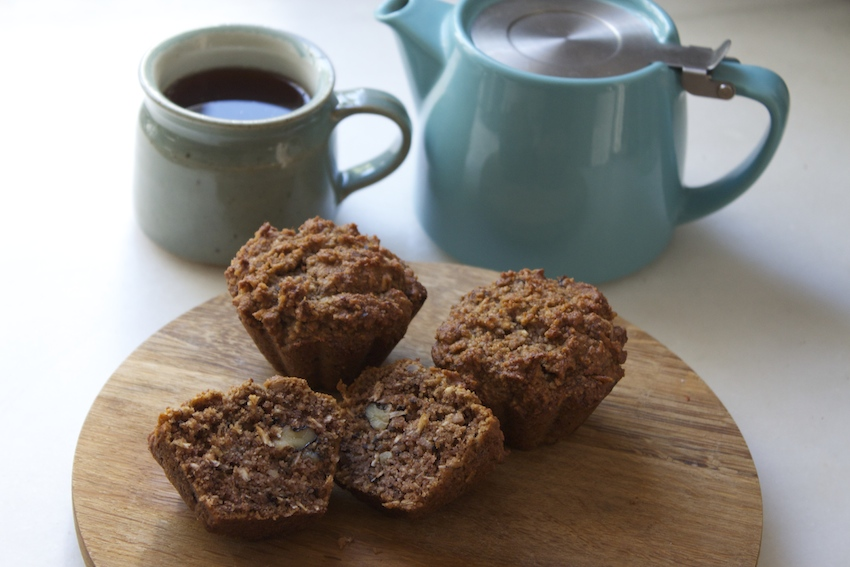 Grain-free Banana Nut Muffins from And Here We Are...