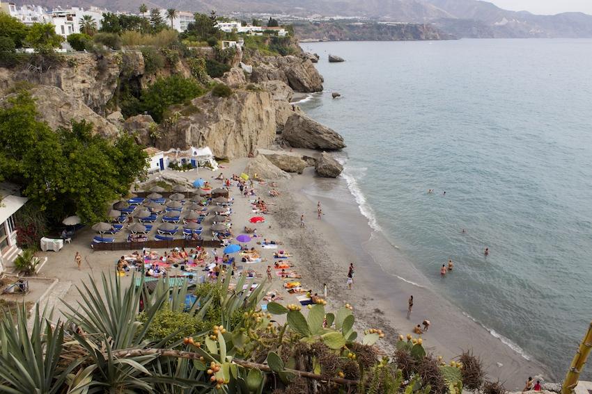 Beaches at Balcon de Europa, Nerja Spain