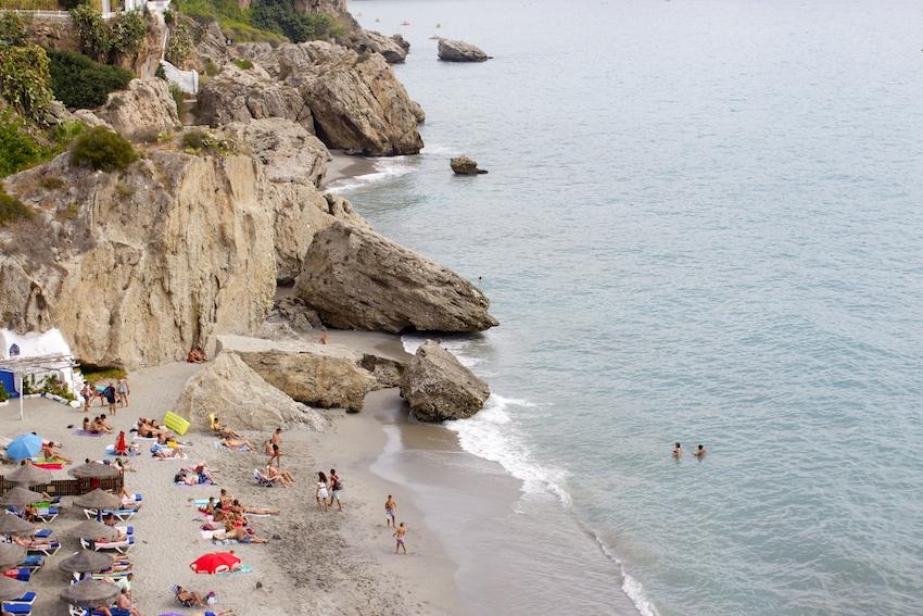 Beaches at Balcon de Europa, Nerja
